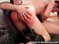 Perky Butt Hand Spanked