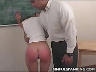 Lazy Teen Ass Spanked