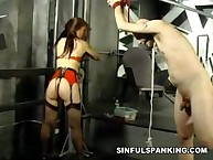 Superior bitch was punished strongly