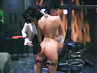Brunete's butt was spanked rough