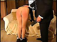 Wanton doll has severe spanks on her prat