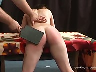 Paddling punishment with sexy babe