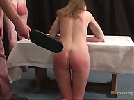 Red haired slut was paddled