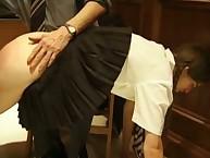 Headmistress loves punishing bad girl