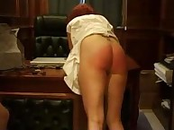 Salacious maiden gets hard spanks on her fannies