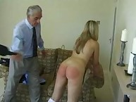 Filthy girl has brutal spanks on her butt