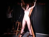 The flogging of naughty Blake