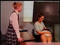 School lesbian spanking