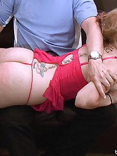 24 of Vanessa Vixon gets a sound spanking