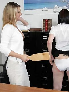 20 of Kailee goths ass brushed from spanking